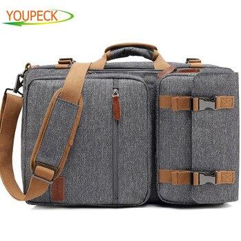 Convertible Backpack Laptop shoulder bag 17.3 17 inch notebook bag Messenger Bag Laptop Case Handbag Business Briefcase Rucksack shoulder bag