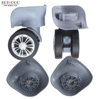 ספינר גלגלית גלגלי מזוודות עבור מזוודות נסיעות יד תיקון החלפת חלקי אביזרי גומי גלגל עגלה A32-WXL