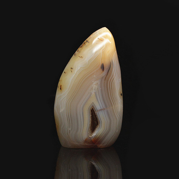 Manao Qi natural gray stone rock carving material polished agate stone specimens mineral specimens 07