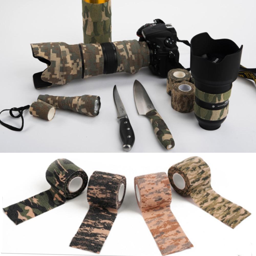 5cm*4.5M Self-adhesive Camo Gun Hunting Waterproof Camp Camouflage Stealth Tape