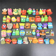 Random Garbage Grossery Gang Cartoon Anime Action Figures Toys Mini Cute Fashion Toys Gift Children doll 8 different style black and red spiderman action figures fan collections mini fun model landscape fleshy doll gift for children