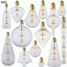 IWHD All Star Bombilla Edison лампа E27 2 Вт 220 В промышленный Декор Lampara винтажный Ретро светильник Ampul Ampolletas