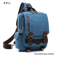S P L New Shoulder Bag Backpack Chest OL Men And Women Single Back And Crosbody