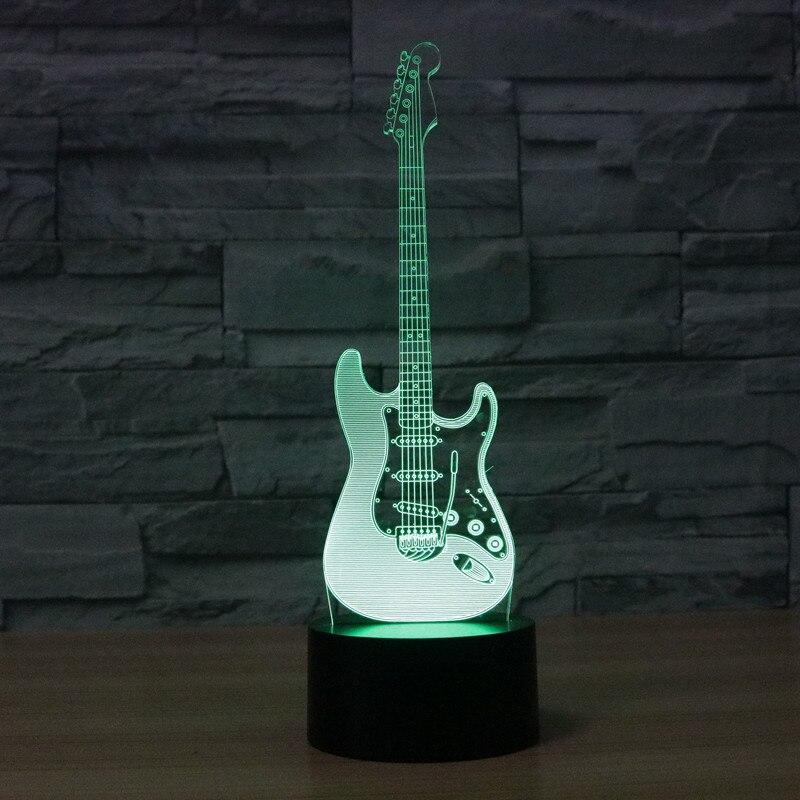 Luzes da Noite criativo 3d luz guitarra elétrica Modelo Número : Iy803726