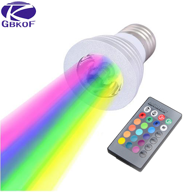 3W E27 E14 GU10 RGB LED Bulb 16 Color LED Spotlight with IR Remote Controller AC85-265V Spot LED Lamp for Home Party Decoration skkd100 16 skkd100 14 skkd100 12 valley spot hskk