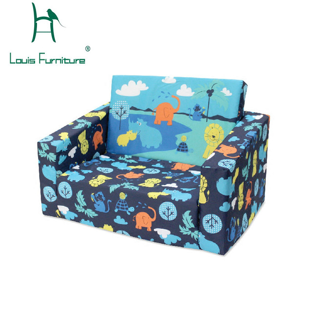 Louis Fashion Children S Sofa Baby Little Bed Cartoon Cloth Art Lovely Washable