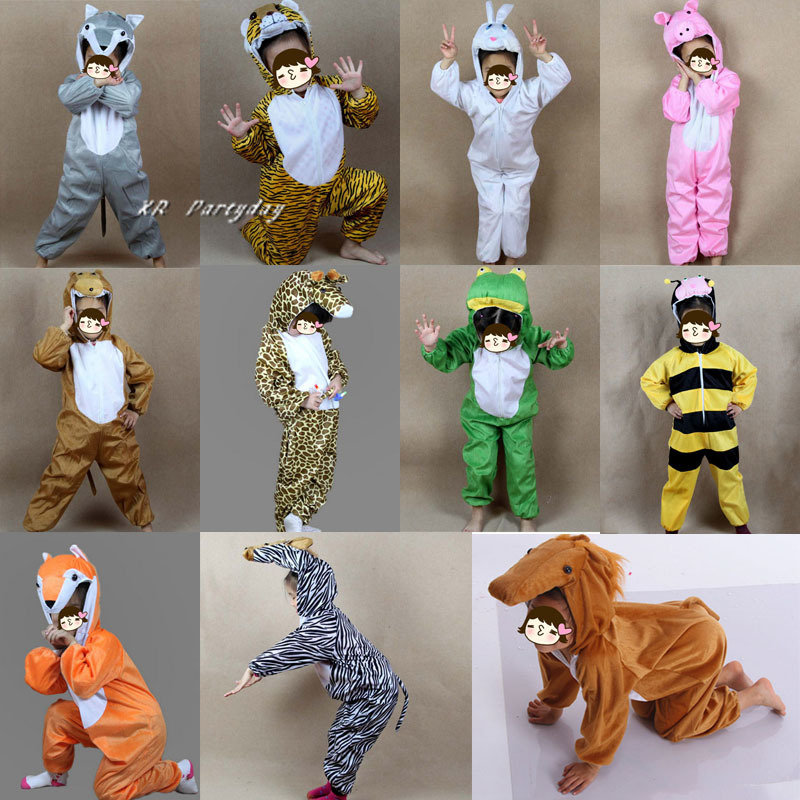 Various Animal Costume Kids Rabbit Pig Tiger Fox Horse Anime Cosplay Jumpsuits halloween costume for kids Christmas шаблон для мема с дрейком