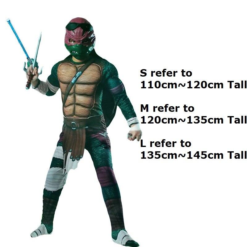 Anime Cosplay pour Teenage Mutant Ninja Turtles Salopette sans masque Robes Bébé Barboteuses Costume pour Enfants Halloween Party - 6
