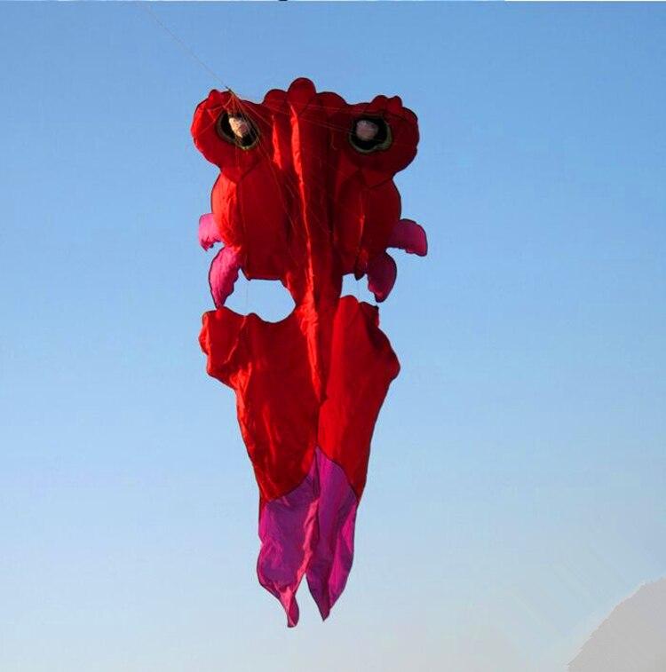 Высокое качество 4,2 м золотой рыбы мягкий воздушный змей с управлением бар линии Открытый игрушки летающий воздушный змей параплан ремесла