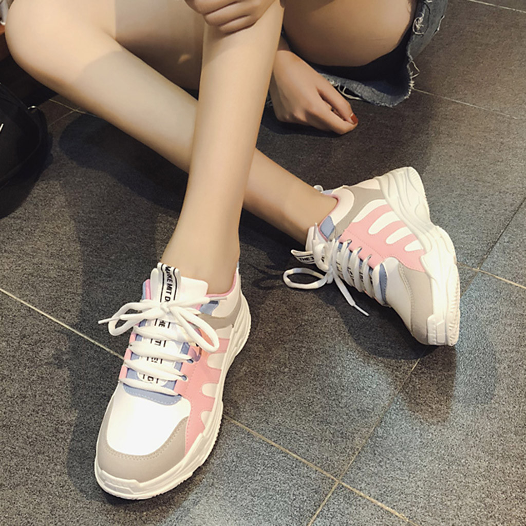 Detail Feedback Questions about Women s Fashion Round Toe chunky sneakers  Lace Up Casual Shoes women trainers platform sneakers  XTN on  Aliexpress.com ... a520eee7d31b