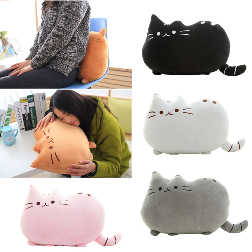 2015 Kawaii Biscuits cats 40*30cm Cute Stuffed Animal Plush Toys Dolls  Pusheen Shape Pillow Cushion for  kid Home  Decoration 2015 kawaii biscuits cats 40 30cm cute stuffed animal plush toys dolls pusheen shape pillow cushion for kid home decoration