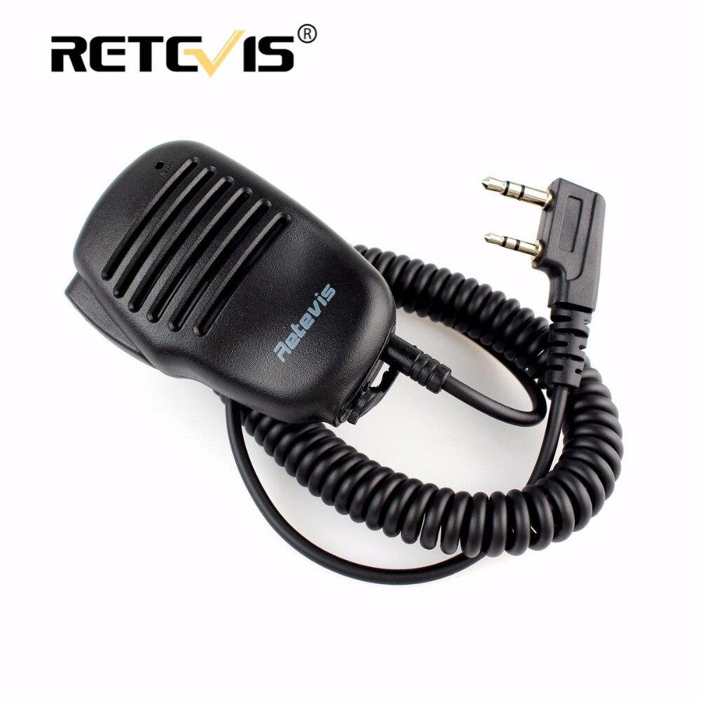Robuste Verwenden Mini PTT Lautsprecher Mikrofon Für Kenwood Retevis RT5R H777 RT5 RT21 Für Baofeng UV-5R 888 S Walkie Talkie zubehör