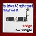 128 gb 100% prueba y buen funcionamiento para iphone 6 s placa base sin touch id, para iphone 6 s mainboard con patatas fritas, envío gratis