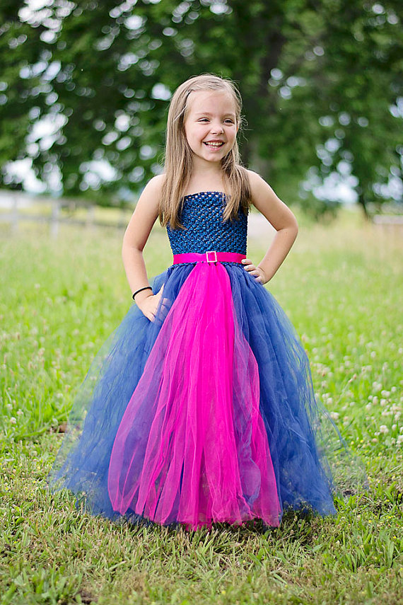 Hot pink Blue Angel Social outfit Fluffy Tulle ball gown Flower props costum princess Etsylush Victorian Retro Easter dress