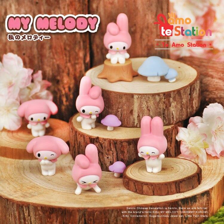 3.5cm Cute Cartoon My Melody Mini PVC Action Figures ...