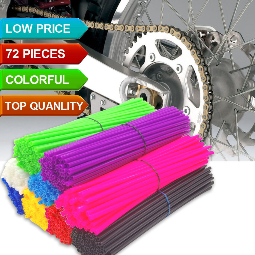 Motorcycle Dirt Bike Wheel <font><b>Rim</b></font> Spoke Skins Covers Wrap Tubes Decor Protector Pipe FOR KTM 400 450 525 SX EXC MXC XC XCW Pitbike image