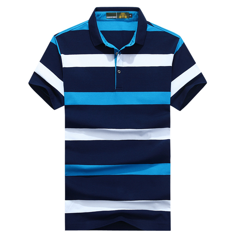Brand New Summer <font><b>Polos</b></font> <font><b>Men</b></font> Cotton Striped <font><b>Polos</b></font> <font><b>Shirt</b></font> Military Breathable <font><b>Polos</b></font> para hombre tee <font><b>shirt</b></font> homme <font><b>Big</b></font> <font><b>Size</b></font> XXXL image