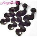 Angelbella Cheap Human Hair Bundles 3PCS Lot Brazilian Human Hair Body Wave 100g Per Piece Brazilian Human Hair Weave 3 Bundles
