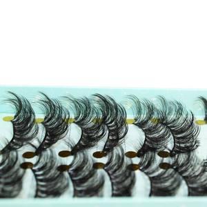 Image 1 - ใหม่ 10 คู่ 3D Mink ขนตาปลอม Criss   cross Fluffy ขยายขนตาธรรมชาติยาวตาแต่งหน้า Eylash Extension เครื่องมือ