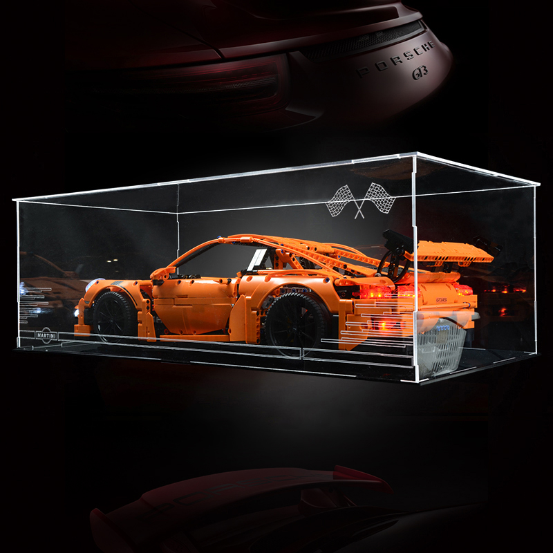 the display case box for <font><b>lego</b></font> technic prosche <font><b>42056</b></font> <font><b>lego</b></font> Bugatti Chiron 42083 series building block model 3368 20001 20086 image