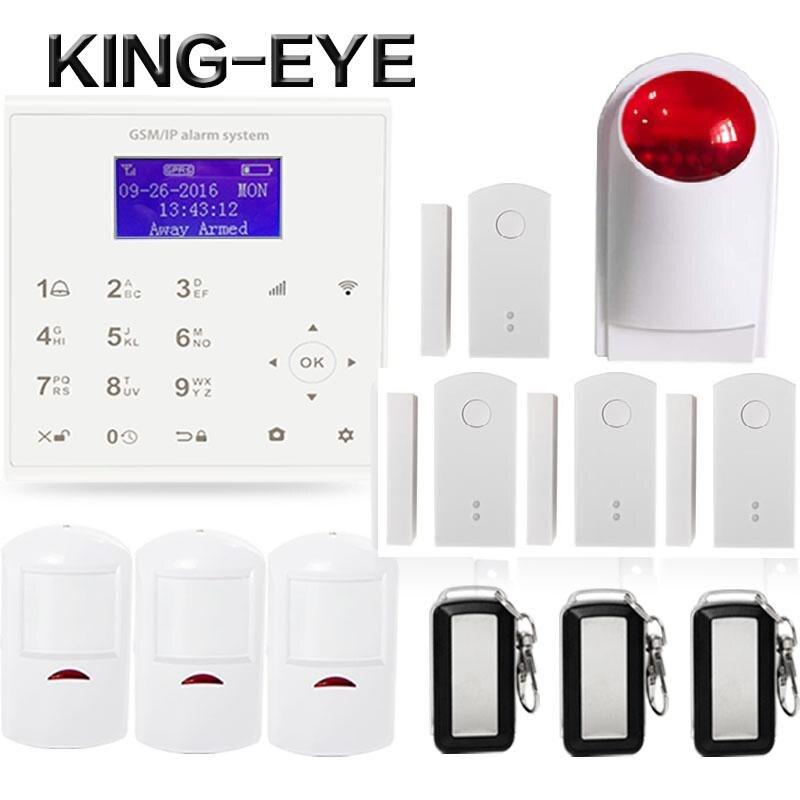 433mhz 2.4G Wireless wifi gsm alarm system for home Android/IOS APP control Spanish/Dansk door sensor outdoor flash siren