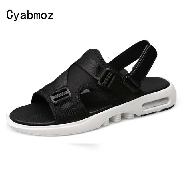 3a22652745ca Cyabmoz Men Sandals Stretch Fabric Slippers Beach Sandals Men s Summer  Super Breathable Lightweight Casual Shoes Zapatos Hombre