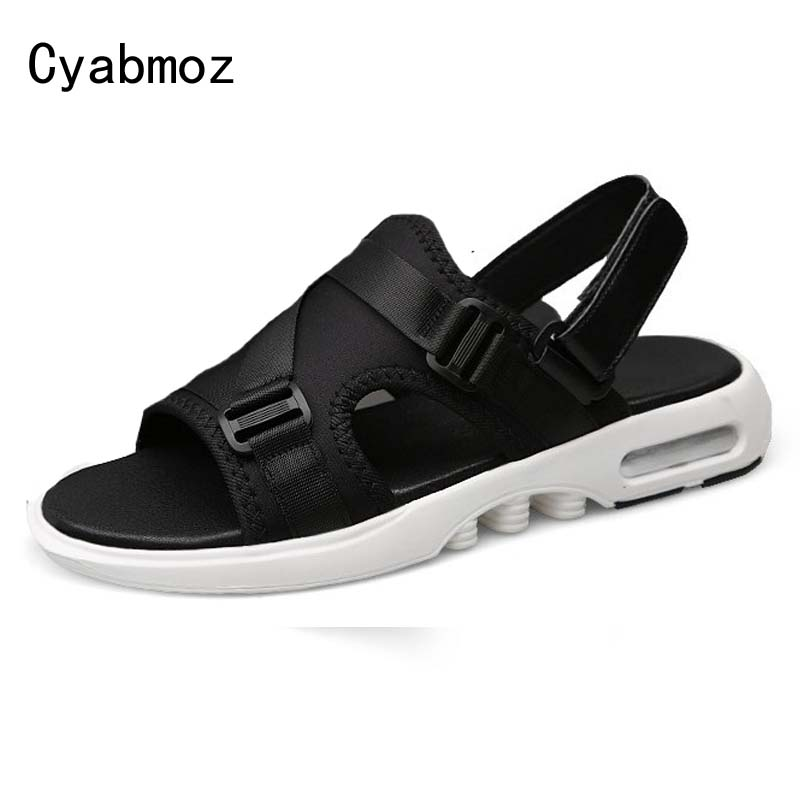 Cyabmoz Men Sandals Stretch Fabric Slippers Beach Sandals Mens Summer Super Breathable Lightweight Casual Shoes Zapatos Hombre