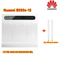Unlocked Huawei B593 B593s 12 Plus 2pcs Antenna 4G LTE 100Mbps CPE Router with Sim CardSlot 4G LTE WiFi Router with 4 Lan Port