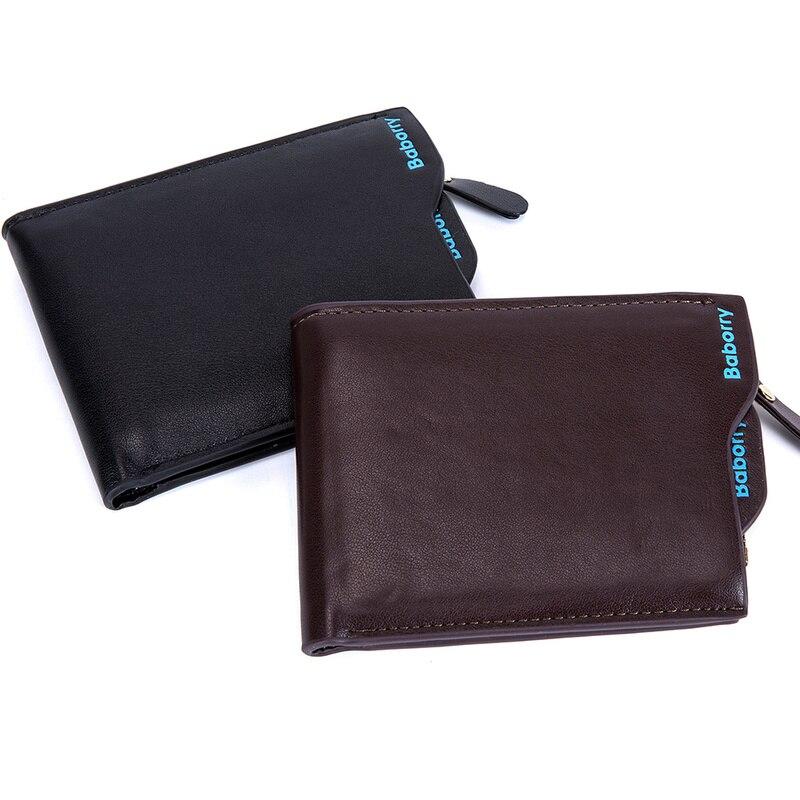 New 2018 Men Wallets Leather Coin Purse Mens Wallet Male Money Purses Soft Card Case New Classic Soild Pattern Designer Wallet