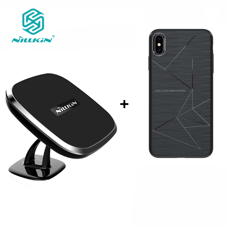 NILLKIN Magnetic wireless receiver case and qi wireless charger pad Portable for iPhone XR cover XS Max cover hot