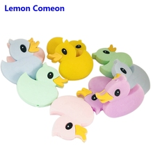 Lemon Comeon 12PC Baby Teether Cute Mini Duck Silicone Beads Tooth Gel Creative DIY Making Necklace Bracelet Accessories