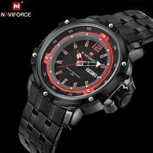 NAVIFORCE Original Marca de Lujo Relojes de Cuarzo Militar hombres Analógico reloj 3D Reloj de Acero Inoxidable Reloj de Pulsera relogio masculino