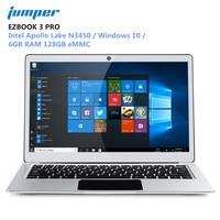 Джемпер EZBOOK 3 PRO 13,3 дюймов ноутбуки оконные рамы 10 Intel Apollo Lake N3450 6 ГБ оперативная память 128 eMMC тетрадь HDMI Двойной Wi Fi PC