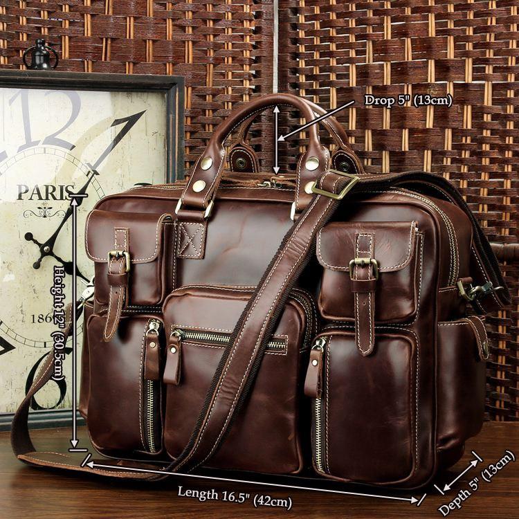 все цены на J.M.D High Quality Cow Leather Briefcase Handbag Fits Laptop Classic Laptop Bag Fashional Vintage Office Bag For Men 7028X