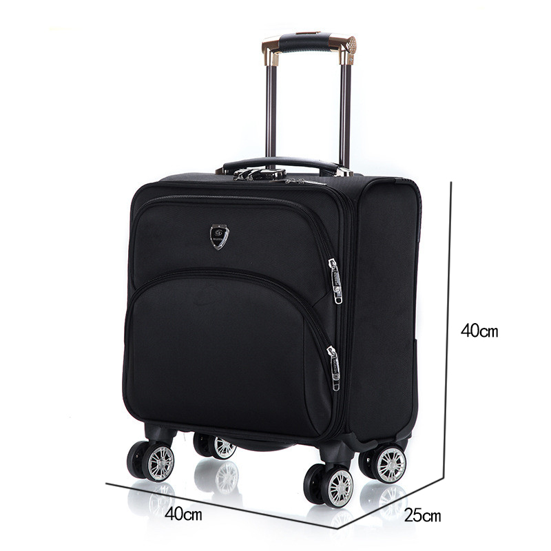 18 inch Oxford Commercial Trolley luggage High Quality Travel Suitcase Universal wheel Aluminium alloy rod Trolley travel bags18 inch Oxford Commercial Trolley luggage High Quality Travel Suitcase Universal wheel Aluminium alloy rod Trolley travel bags