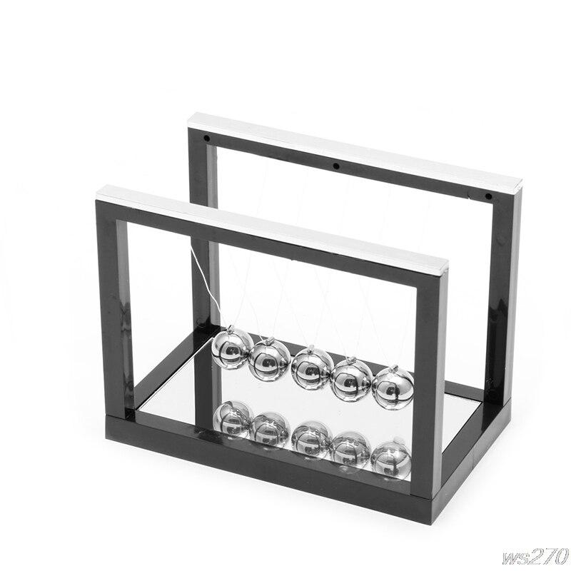 Early Fun Development Educational Desk Toy Gift Newtons Cradle Steel Balance Ball Physics Science Pendulum W15 Drop Ship