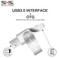 Suntrsi USB Flash Drive For Iphone 7plus 7 6s 5s Pen Drive 32GB 64GB 128GB Pendrive