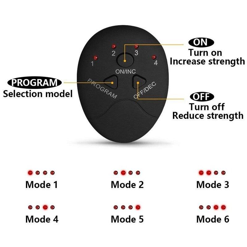 Unisex Wireless EMS Abdominal Muscle Toning Belt Stimulator 6