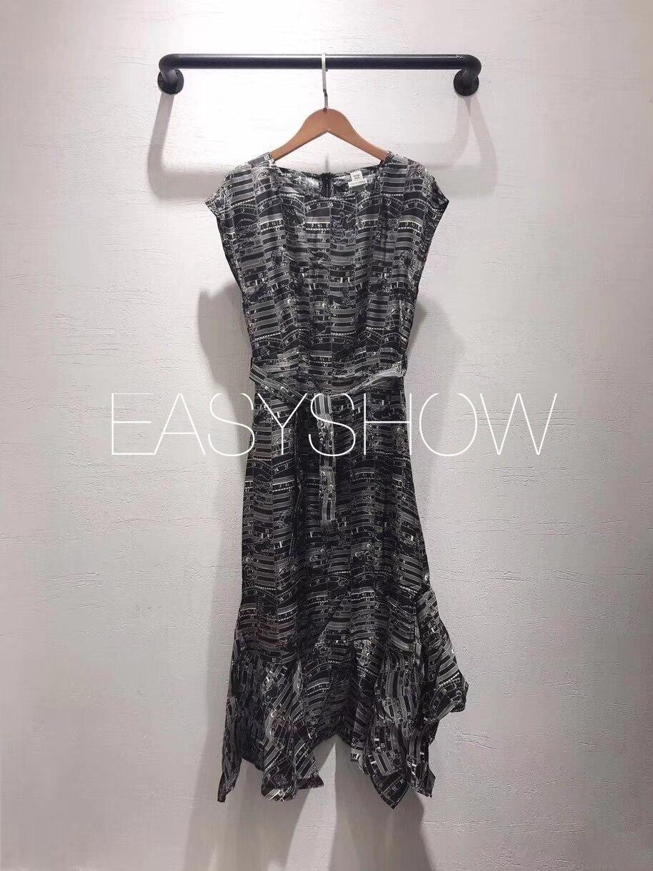 2019 moda mujer de alta calidad verano vestido bohemio sarga 100% seda vestido Maxi cola de pez sin mangas-in Vestidos from Ropa de mujer    1