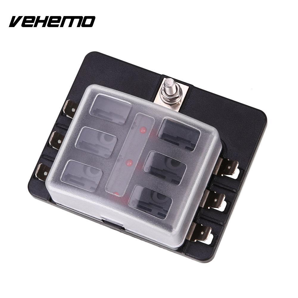 Vehemo Fuse Box 6way Led Indicator Light Safety Pc Wiring Terminal Insurance Abs In Fuses From Automobiles Motorcycles On Alibaba Group
