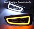 Estilo do carro LEVOU luz de Nevoeiro para Ford F150 Raptor SVT 2009-2014 LED Daytime Running Luz de Nevoeiro Luz de Estacionamento Acessórios de sinal