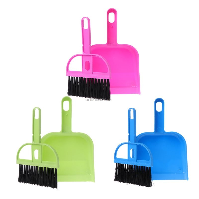 Mini Small Broom Dustpan Set Brush Desktop Duster Sweep Neat Kit Computer PC Keyboard Car Table