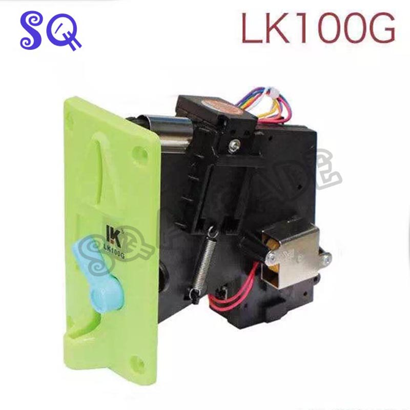 Free shipping 1pc LK100G Pinball machine accessories,colorful panel coin acceptor on hot sale image