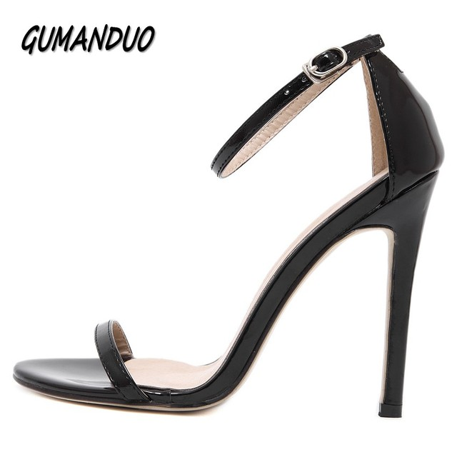 GUMANDUO new summer women high heels sandals shoes woman party wedding ladies pumps ankle strap buckle stilettos sexy shoes