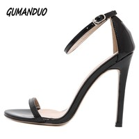 New Summer Fashion Women High Heels Sandals Shoes Woman Party Wedding Ladies Pumps Ankle Strap Buckle