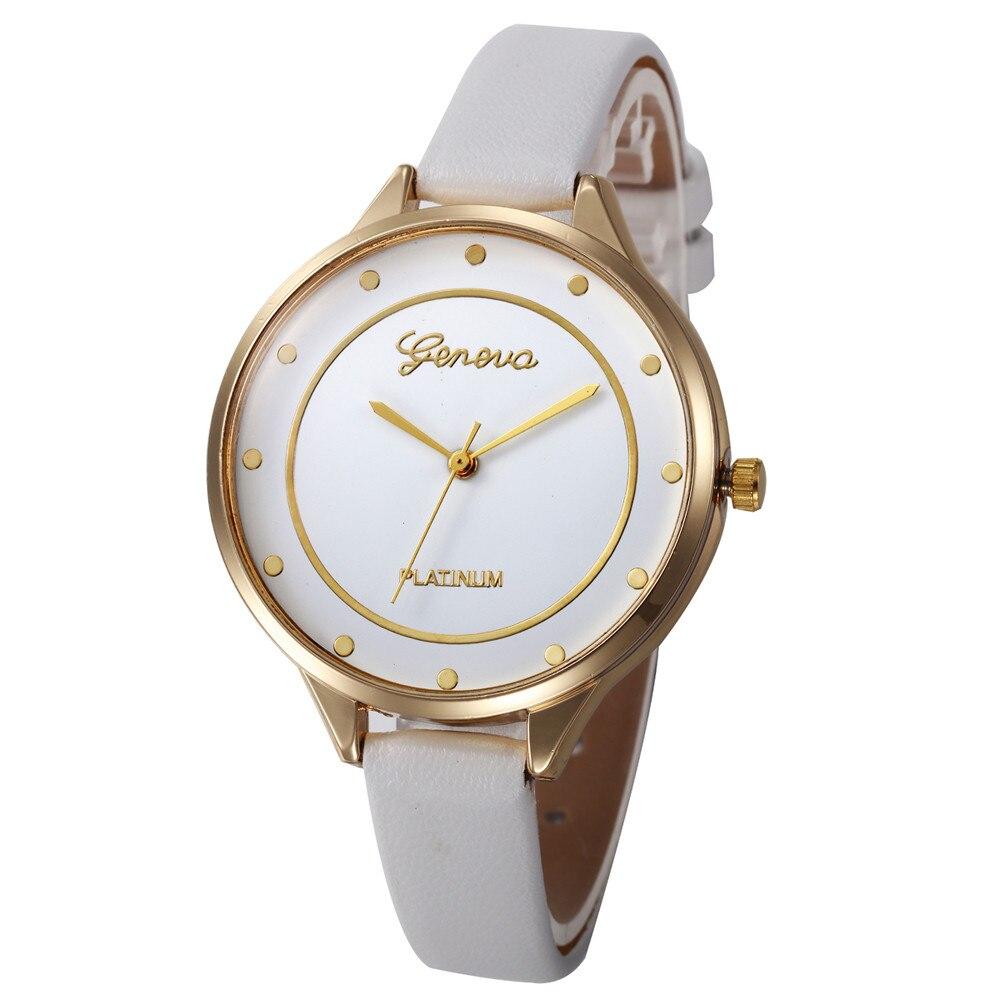 Новый для женщин часы Роскошные модные повседневное шашки искусственная Аналоговые Кварцевые relogio feminino де luxo 2019% 9