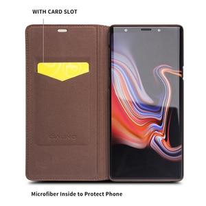 Image 3 - QIALINO אופנה אמיתי עור תיק כיסוי עבור Samsung Galaxy הערה 9 יוקרה Ultrathin כרטיס חריץ מקרה עבור גלקסי הערה 9 6.4 inches