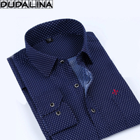 Dudalina 2017 Male Casual Men Shirt High Quality Turn Down Collar Long Sleeved Fashion Plaid Printed