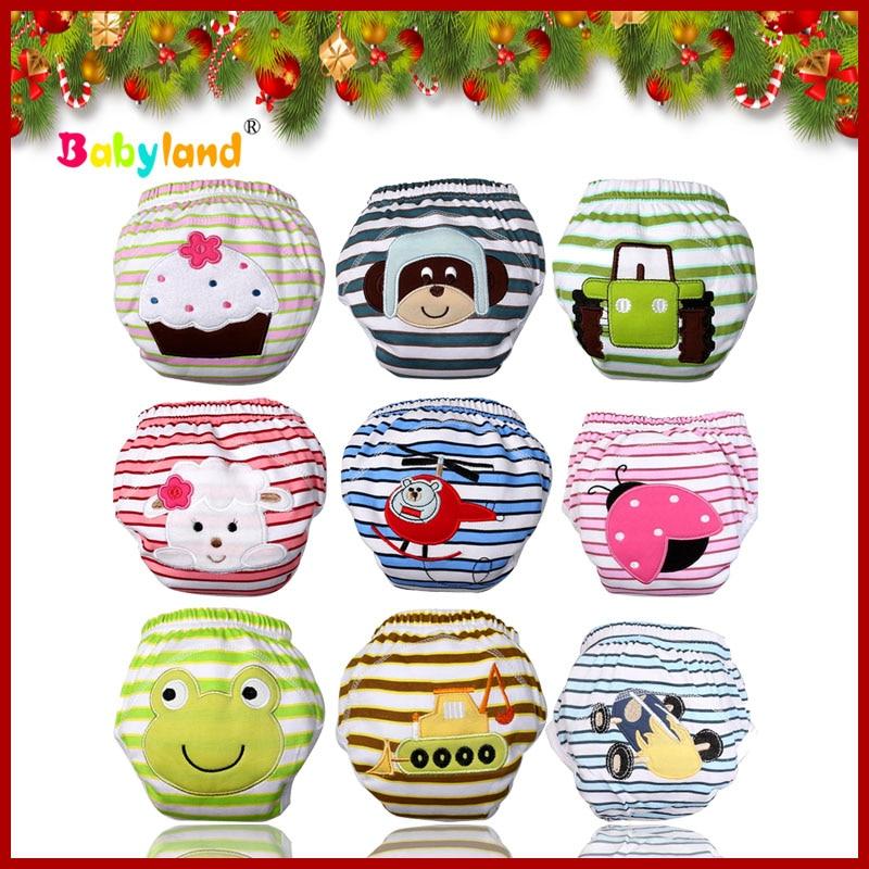 (5 Teile/los) Baby Weihnachtsgeschenk 100% Baumwolle Muster Töpfchen Trainer Training Pants 22 Muster Top Wassermelonen