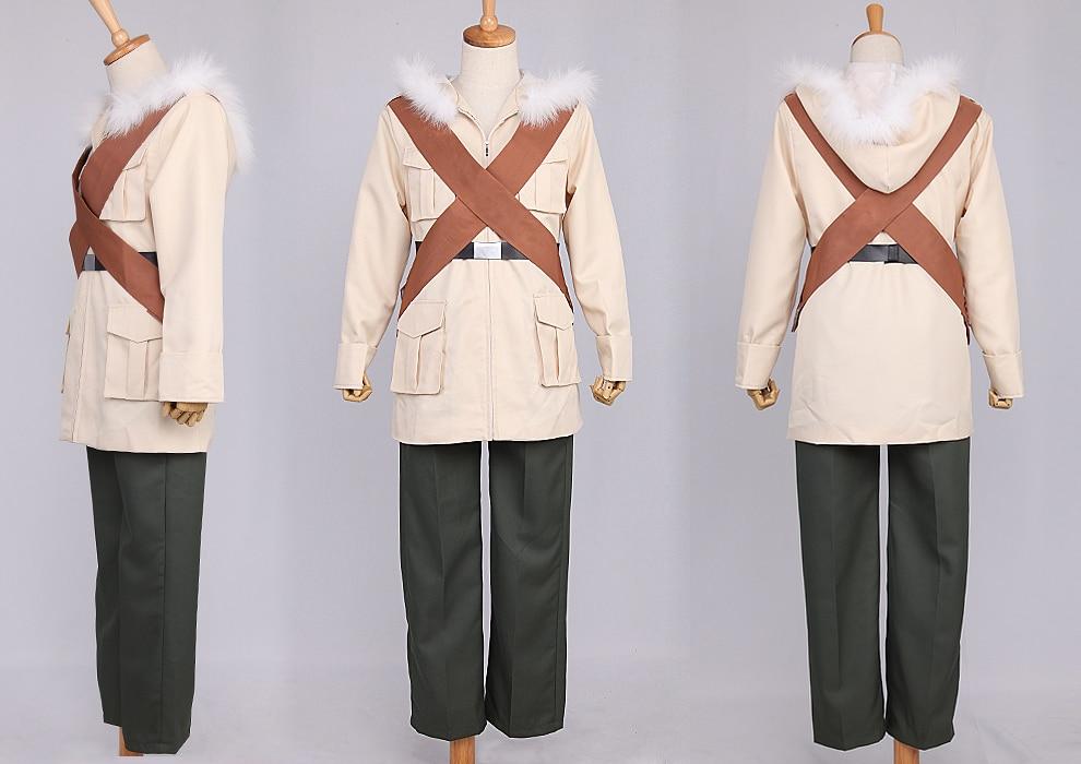 Hetalia Axis Powers Kanada vojenská uniforma cosplay kostým halloween